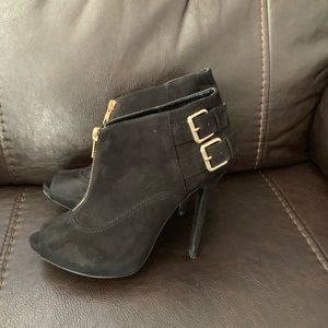 Guess suede black booties